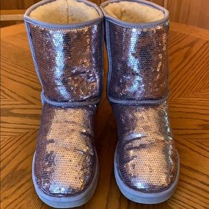 Uggs sequin silver size 9